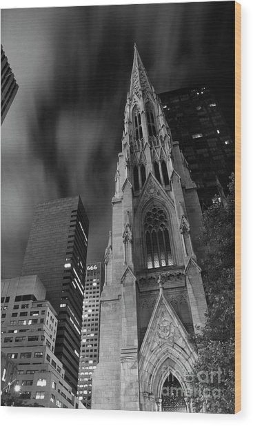 St Patricks Cathedral Wood Print