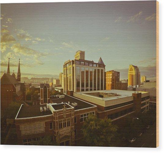 St. Paul Sunrise Wood Print