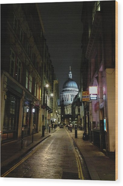 St. Pauls By Night Wood Print