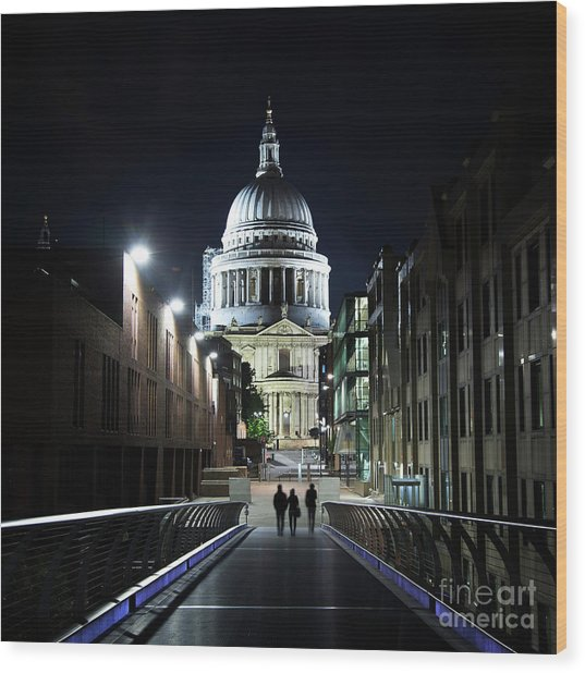 St Paul's Cathedral At Night Wood Print