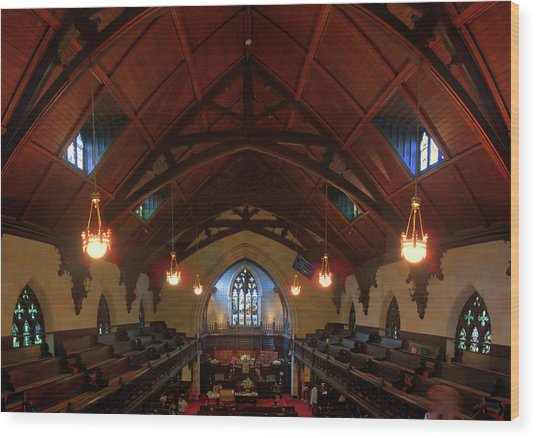 St Pauls Church Wood Print by Larry Simanzik