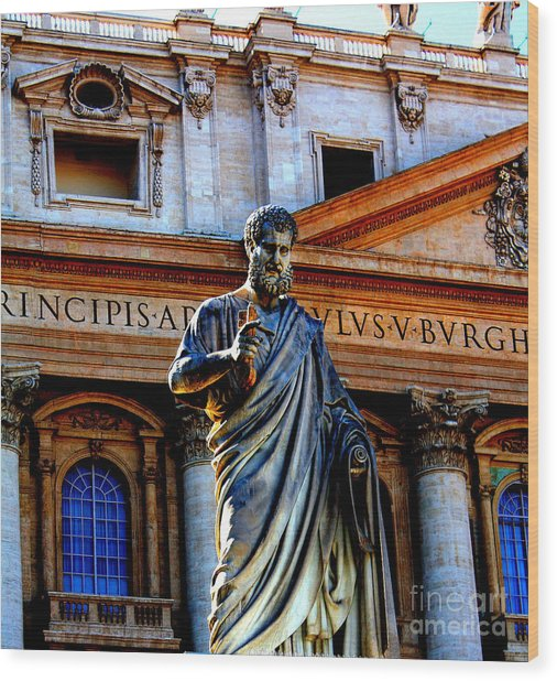 St Peter At The Vatican Wood Print