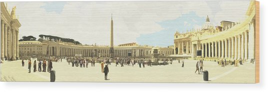St. Peter's Square The Vatican Wood Print