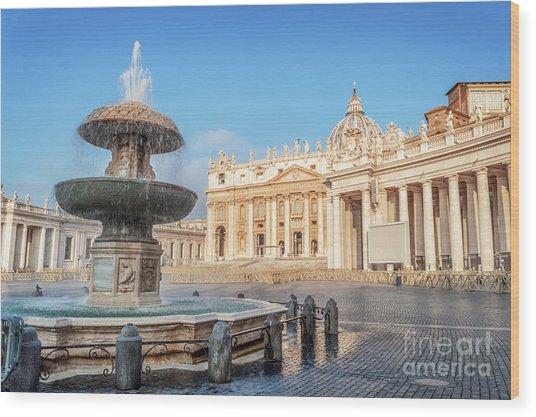 St Peter's Basilica Wood Print