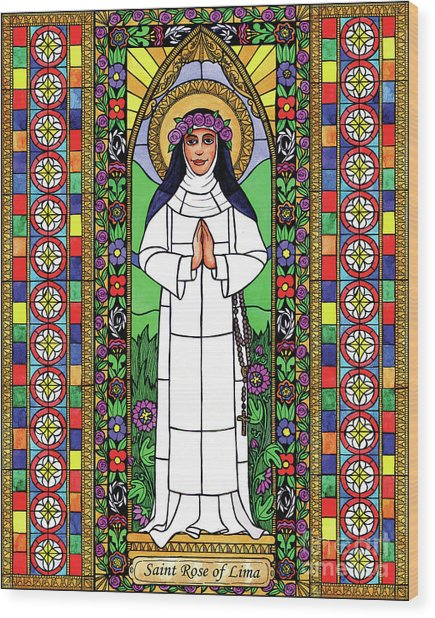 St. Rose Of Lima Wood Print