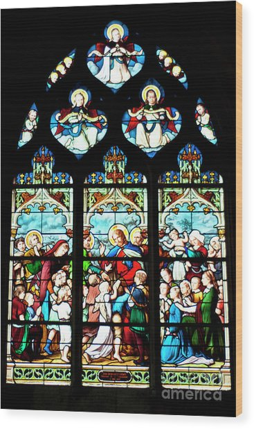 St. Severin Chuch Stain Glass Wood Print