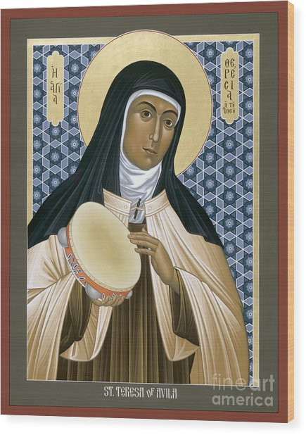 St. Teresa Of Avila - Rltoa Wood Print