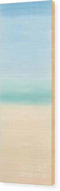 St Thomas #1 Seascape Landscape Original Fine Art Acrylic On Canvas Wood Print