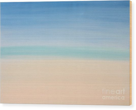St Thomas #2 Seascape Landscape Original Fine Art Acrylic On Canvas Wood Print