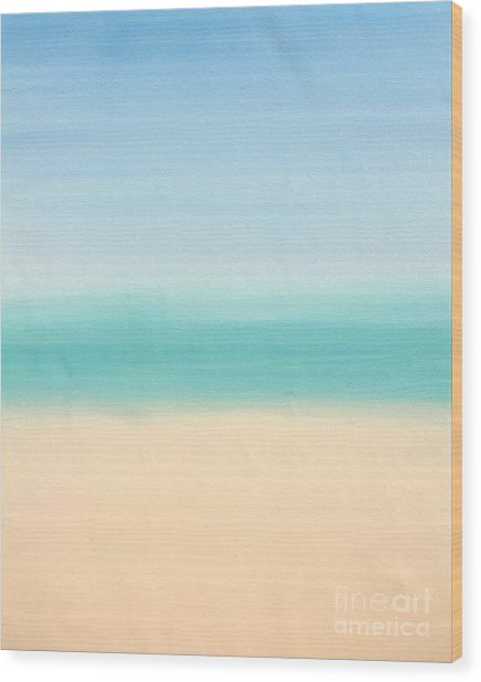 St Thomas #3 Seascape Landscape Original Fine Art Acrylic On Canvas Wood Print