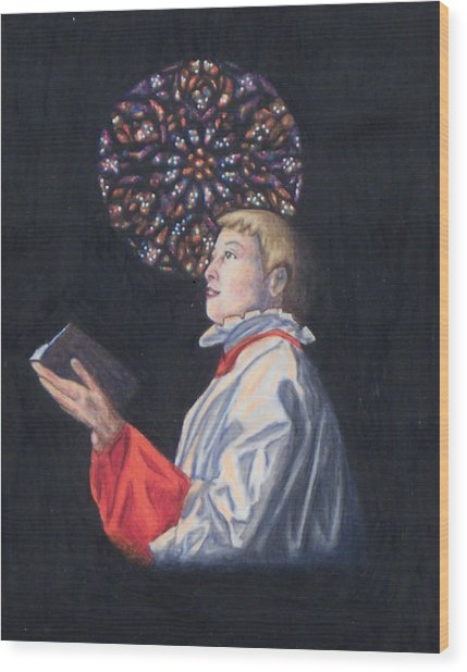 St. Thomas Episcopal Nyc Choir Boy Wood Print