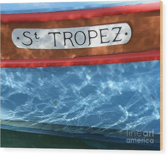 St. Tropez Wood Print