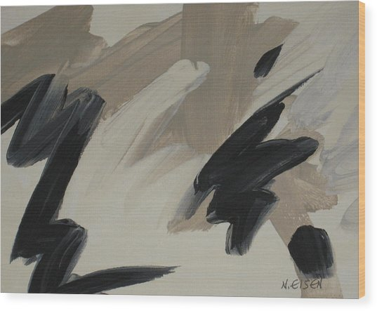 Staccato Wood Print