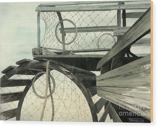 Stacked Traps Wood Print