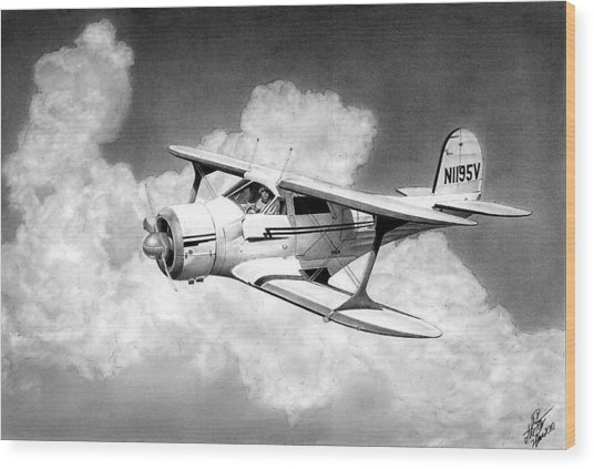 Staggerwing Wood Print by Lyle Brown