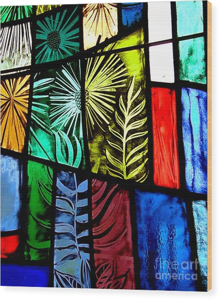 Stained Glass 3 Wood Print by Windi Rosson