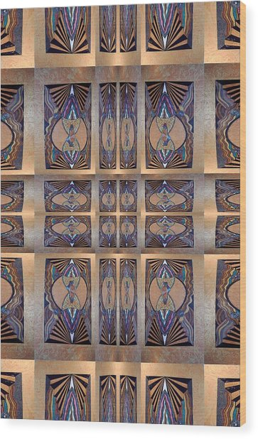 Stained Glass And Brass Wood Print by Ricky Kendall
