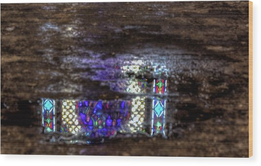 Stained Glass Reflections Wood Print
