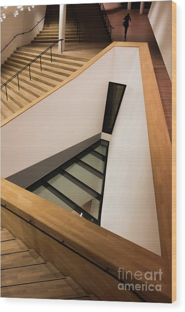 Staircase In Elbphiharmonic Wood Print