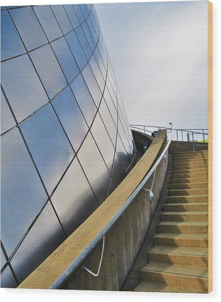 Staircase To Sky Wood Print