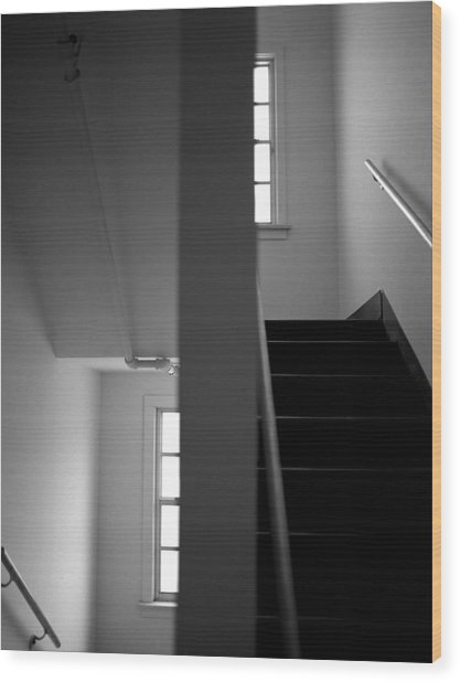 Staircase View Wood Print by Matthew Altenbach