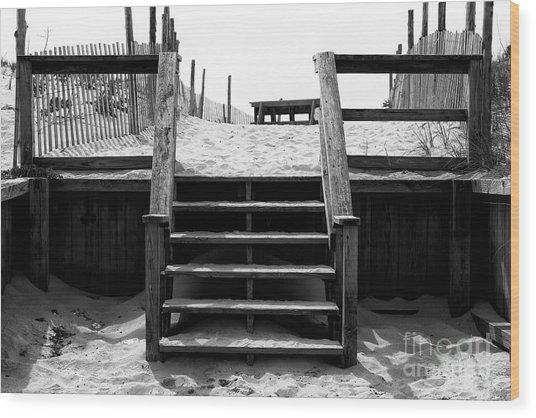 Stairway To Lbi Heaven Wood Print by John Rizzuto