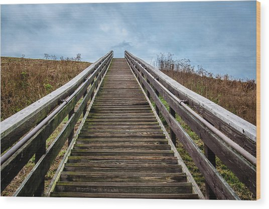 Stairway To The Sky Wood Print