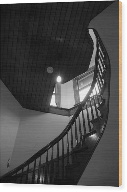 Stairwell To The Studio Crow's Nest Wood Print by Robert Boyette