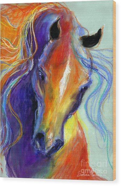 Stallion Horse Painting Wood Print