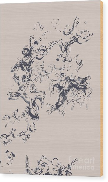 Stallions Inc. Wood Print