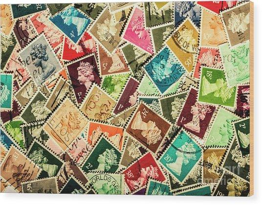 Stamping The Royal Mail Wood Print