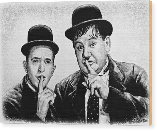Stan And Ollie Wood Print