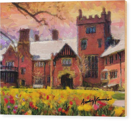 Stan Hewyt Hall And Gardens Wood Print by Anthony Caruso