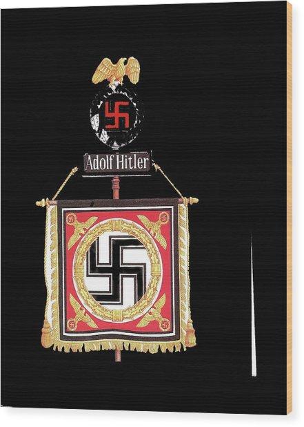Standard Of The Leibstandarte Adolf Hitler Circa 1935  Wood Print