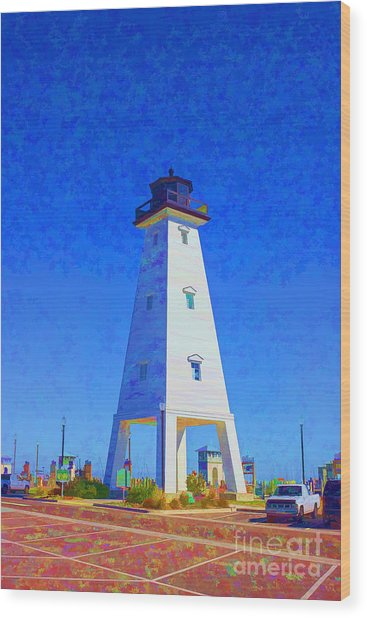 Standing Proud Lighthouse Wood Print
