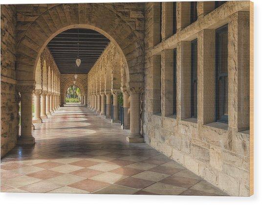 Stanford Hall Wood Print