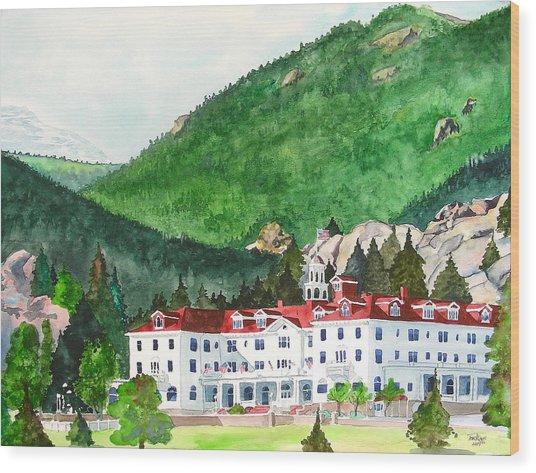 Stanley Hotel Wood Print