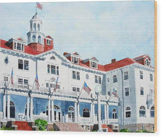 Stanley Hotel Two Wood Print