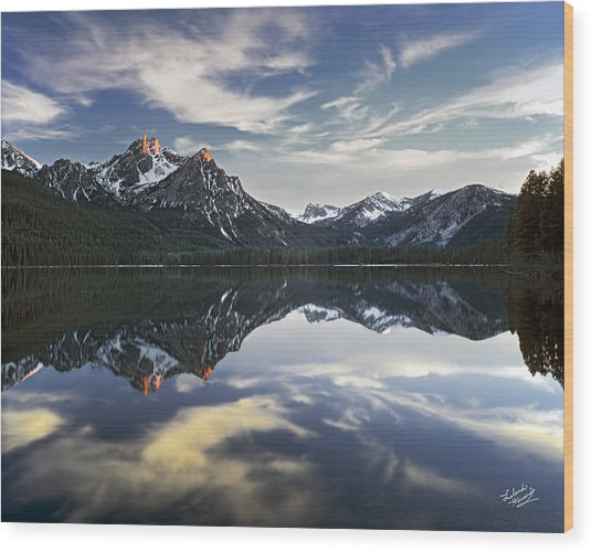 Stanley Lake Wood Print