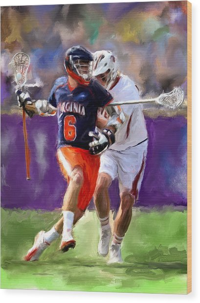 Stanwick Lacrosse Wood Print by Scott Melby