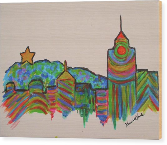 Star City Play Wood Print