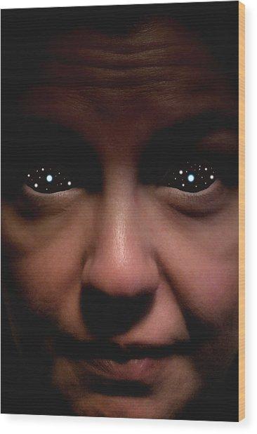 Star Eyed Wood Print by David Koonce