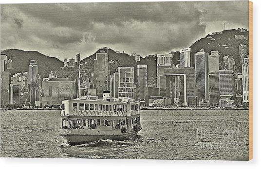 Star Ferry In Hong Kong Wood Print