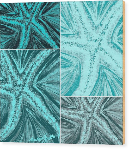 Starfish Pop Art Wood Print