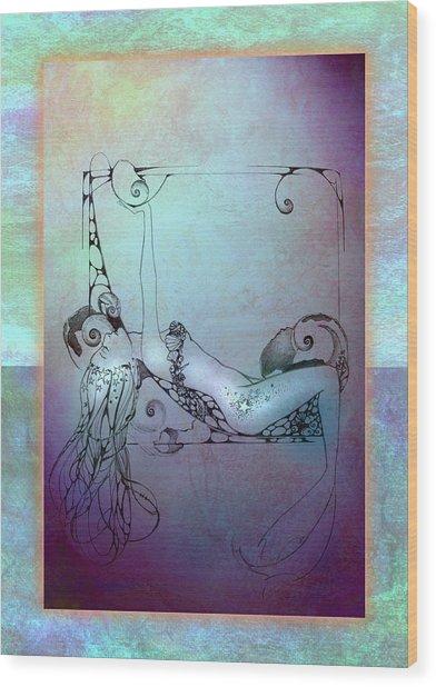 Star Mermaid Wood Print