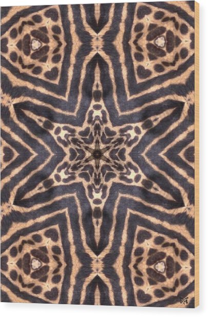 Star Of Cheetah Wood Print