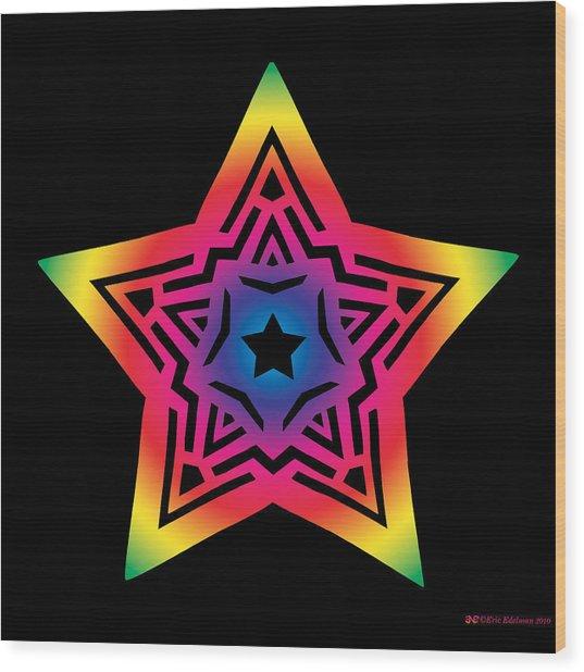 Star Of Gratitude Wood Print