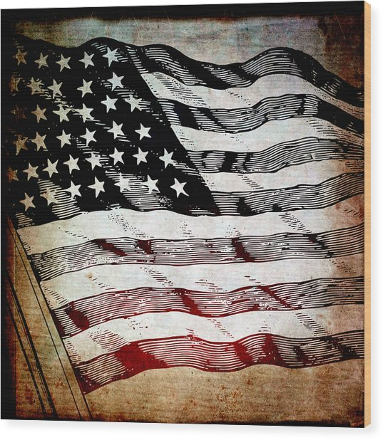 Star Spangled Banner Wood Print