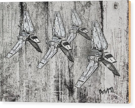 Star Wars Swarm  Wood Print