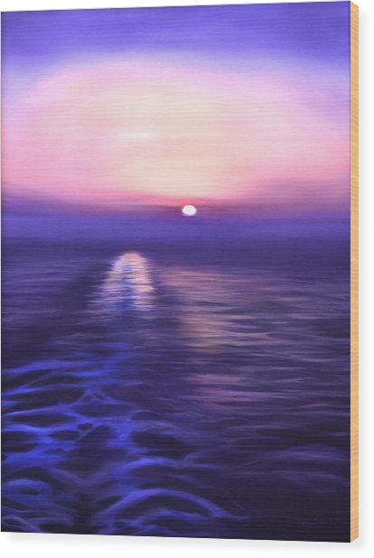 Starboard View Wood Print